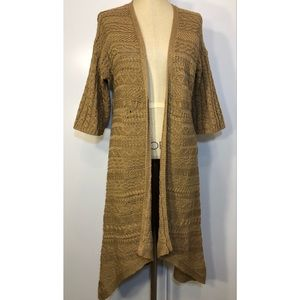 Chico's 100% Cotton Open Cardigan Sz. L 12
